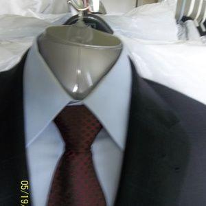 CA401- Jos A Bank Dk Blue Windowpane Suit